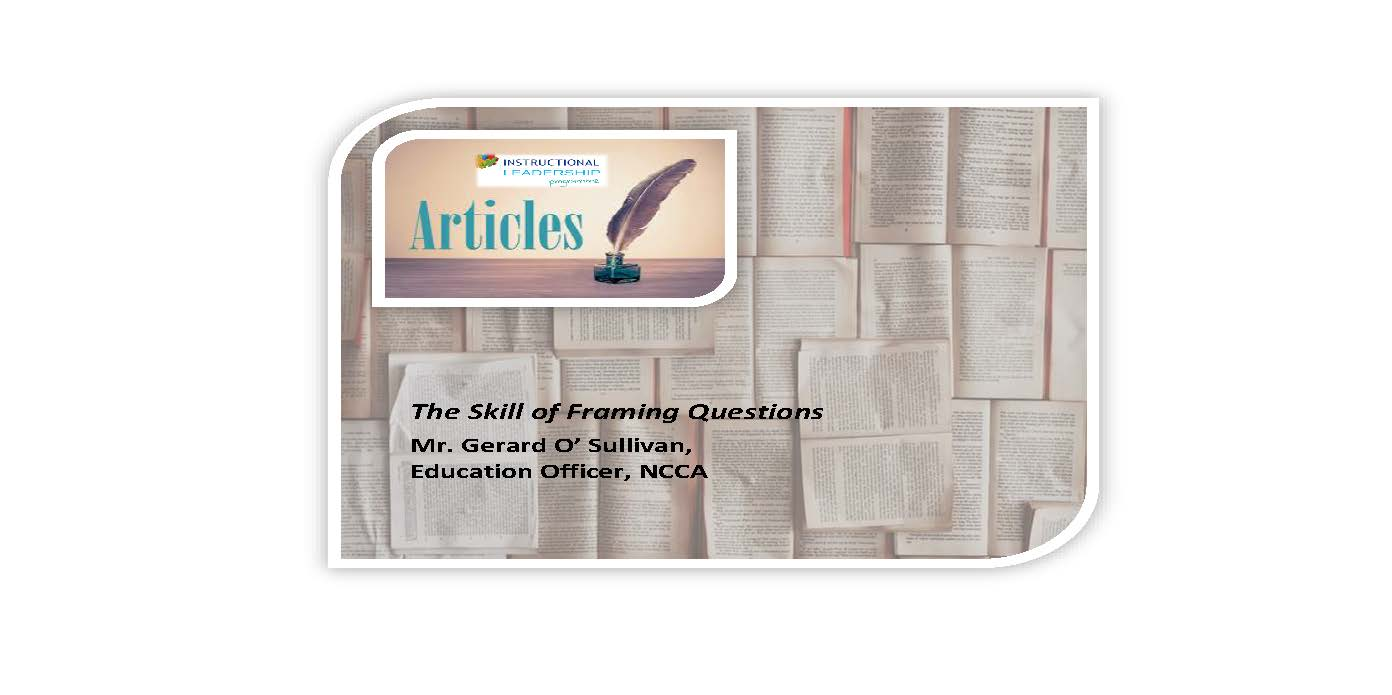 Articles – The Skill of Framing Questions
