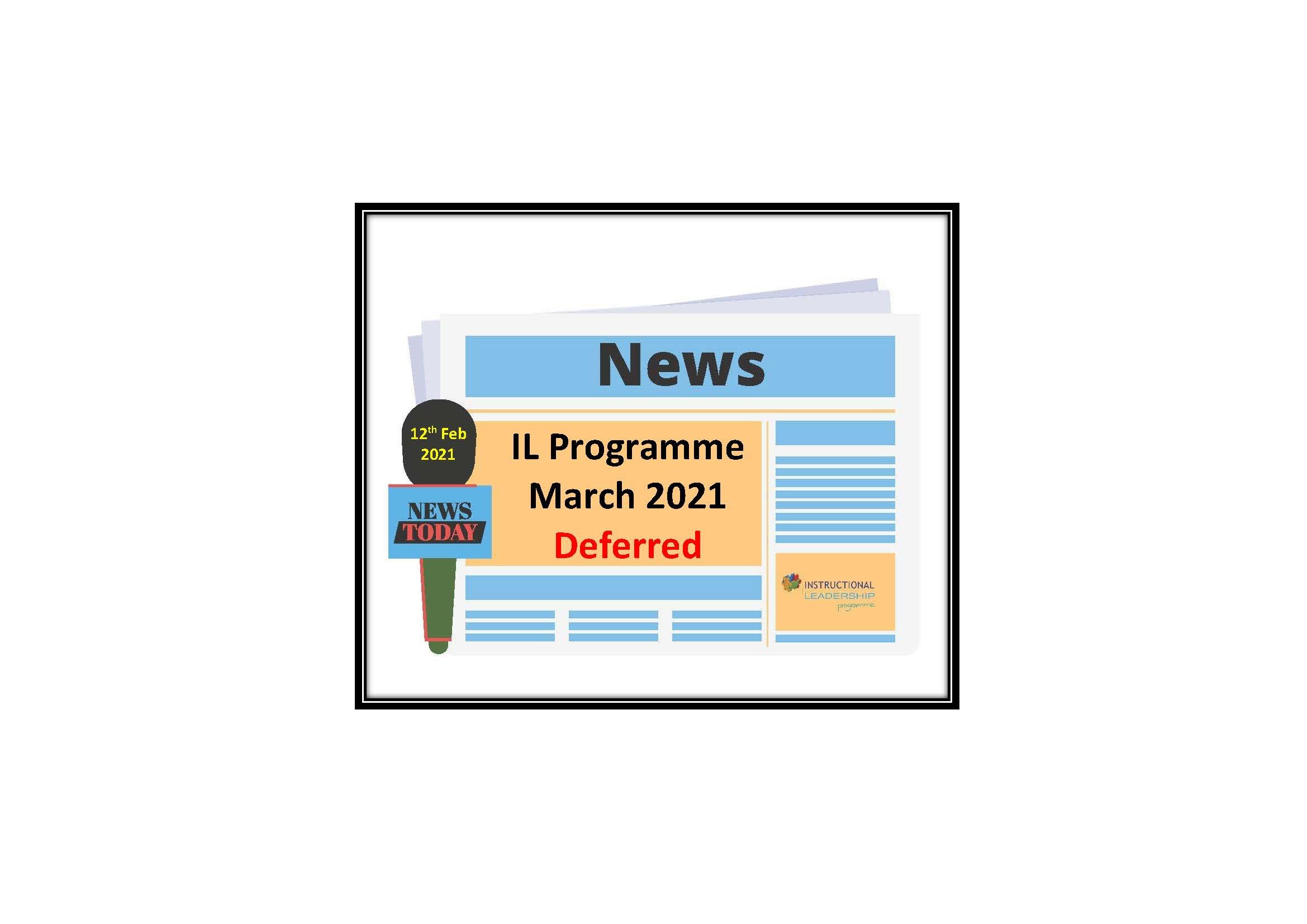 IL Programme – March 2021